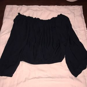 Brandy Melville Cropped over the shoulder top